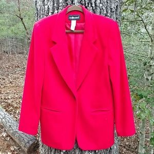 Sag Harbor red wool blazer sz 14